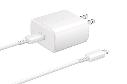 Samsung 45W USB-C Super Fast Charging Wall Charger - White (US Version with Warranty) (EP-TA845XWEGUS)