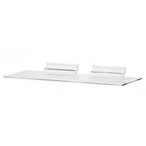 KC Store Fixtures A02102 Acrylic Slatwall Shoe Shelf, 4' D x 10' W, Molded (Pack of 100)