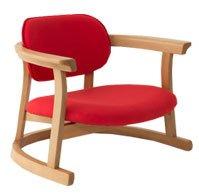 立ち上がりやすい椅子 かに座PLUSチェア ロータイプ レッド