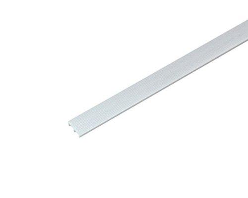 光モール ホワイトガラス戸レール3下 134 1000mm