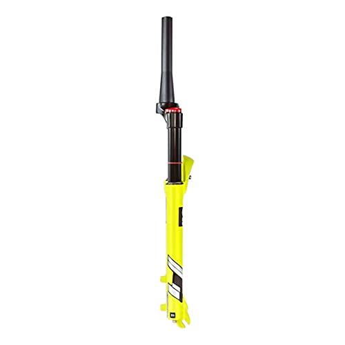 UPPVTE MTB Bike Air Fork, 26/27.5/29 Pulgadas Tubo Recto Y Tubo Cónico Bloqueo Manual, Recorrido De Freno Disco Eje De 140mm 9mm QR Accesorios Bicicleta (Color : Cone Tube HL, Size : 27.5inch)