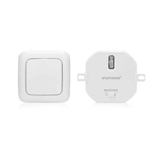 Smartwares - Kit domotico Plug & Connect per illuminazione wireless fino a 1000 W, modulo da incasso e interruttore