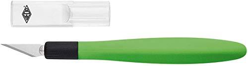 Wedo 07852199 Comfortline Cutter Bisturi, Incluse 5 Lame di Ricambio, Verde
