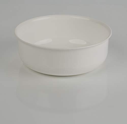 Kimmel Schüssel Schale Müsli Suppe Kunststoff Plastik Mehrweg bruchsicher stapelbar 17 cm, Weiß