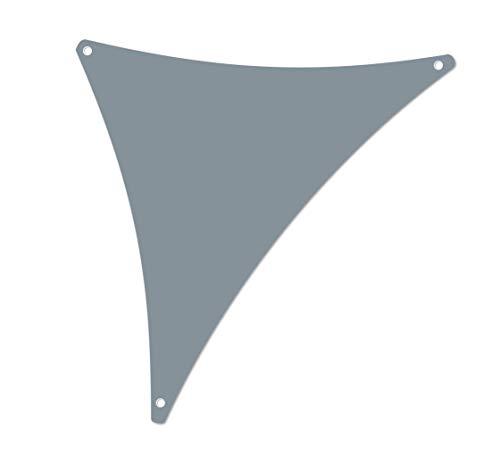 ALOHA Sonnensegel mit UV Schutz wasserabweisend Windschutz wetterschutz Garten und Terrasse (Grau, Dreieck 2,5x2,5x3,5m)