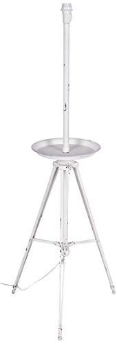 Better & Best staande lamp met ronde tafel, ijzer, wit