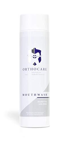 OrthoCare nHAp Mundspülung, begleitende Pflege bei Zahnspangen und Brackets, verhindert weiße Flecken und Demineralisierung des Zahnschmelzes