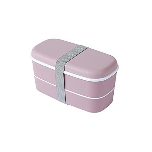 ZYNS Caja de almuerzo 2 Caja De Almuerzo En Capas Bento Box Caja De Almuerzo Mantenga La Caja De Almuerzo De Almuerzo Fresco Almacenamiento De Alimentos