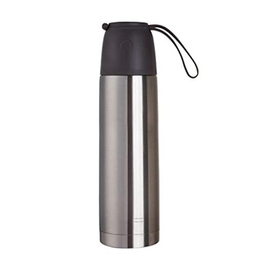 Botella de Agua de 11.8 oz, asegúrese de Beber Suficiente Agua Diariamente para Gimnasio y Deportes al Aire Libre, Thermos Cup para Kid (Color : Silver)