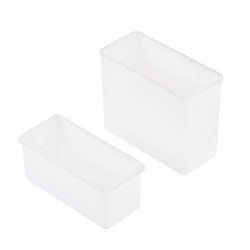 uxcell Slide Staining Jar Polypropylene Stain Jars White for Microscope Slides