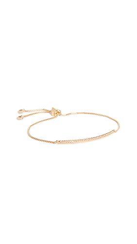 Kate Spade New York Women's Pave Slider Bracelet, Clear/Gold, One Size