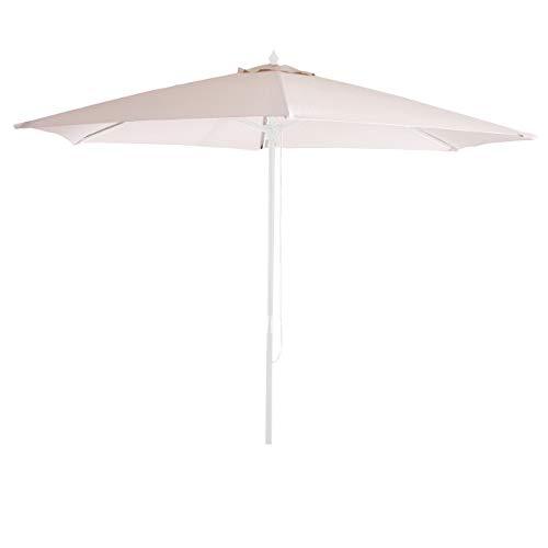 Mendler Bezug für Sonnenschirm Florida, Sonnenschirmbezug Ersatzbezug, Ø 3m Polyester 6kg ~ Creme