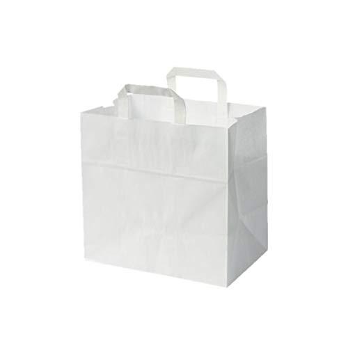 250 Stück Papiertragetasche/Kuchentragetasche in weiß 26+17x25 cm - good4food