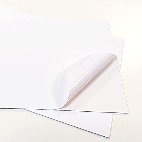 Carta Adesiva Bianca PVC polipropilene A4 Fogli in vinile 1-5-10-15-20-25 per stampanti laser (5)