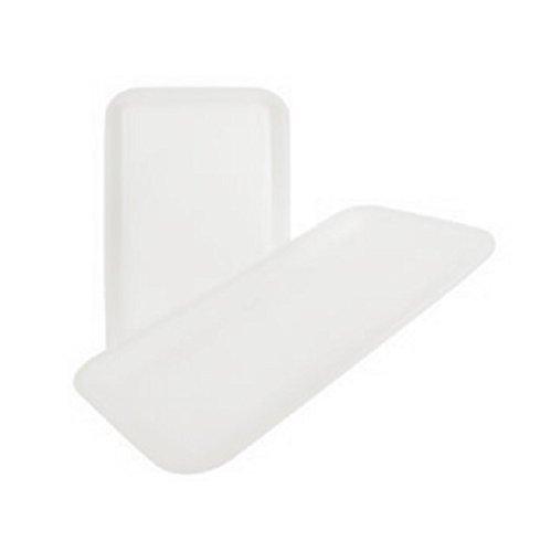 CKF 10SW, 10S White Foam Meat Trays, Disposable Standard Supermarket Meat Poultry Frozen Food Trays, 100-Piece Bundle