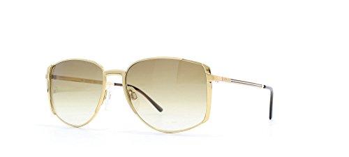 Gucci 2225 12G oro quadrato certificato occhiali da sole vintage per le donne