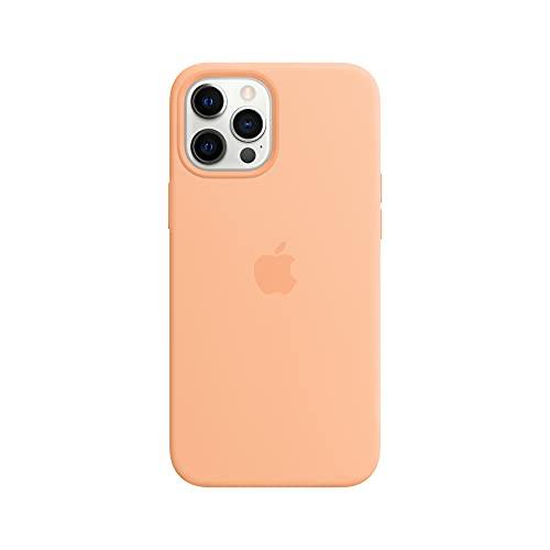 Apple SilikonHülle mit MagSafe (für iPhone 12 Pro Max) - Cantaloupe