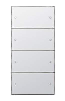Gira KNX Tastsensor 3 Komfort 2035112 4.Fach, (2+2) rws Flächenschalter Bussystem-Tastsensor 4010337081869