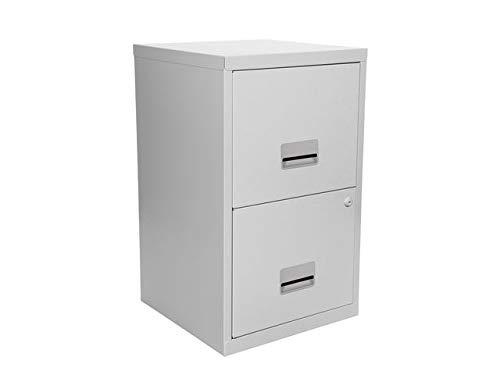 Pierre Henry A4 2 Drawers Steel Lockable Filing Cabinet - Grey