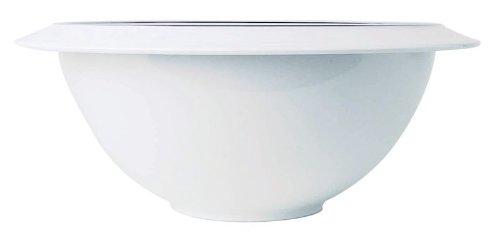 A di Alessi Filetto Saladier en porcelaine décorée - Blanc