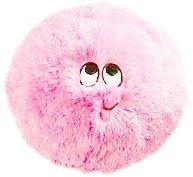 Flauschn Kuschel-Kissen Kinderflauschkissen mit Lustigem Gesicht Durchmesser 35 cm Super Kuschelweich (Rosa)