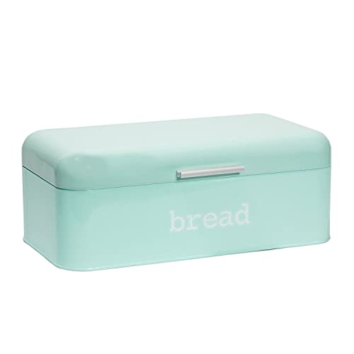 Bread Box Holder for Countertop, Mint Green Kitchen Accessories (Large)