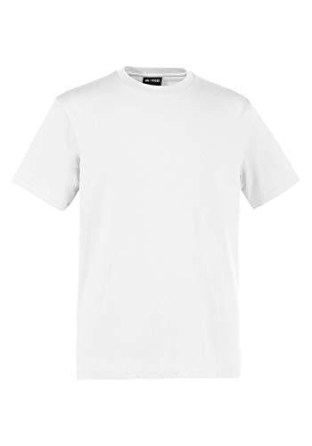 EXPAND EXPAND Herren Arbeits T-Shirt in Übergröße weiß 4XL