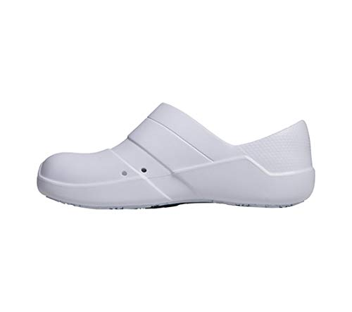 Anywear Journey Women's Healthcare Professional Injected Medical Slip on, 8, White