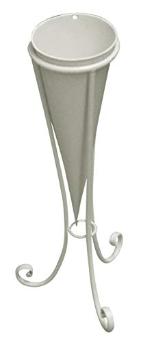 DISRAELI Cono Porta Vaso Ferro Bianco M:D12xH44