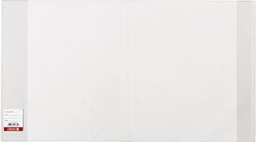 Brunnen 104021003 Buch-, Heftumschlag / Buchschoner (Buchhöhe 21 cm, 38,5 x 21 cm, mit Kantenschutz) transparent