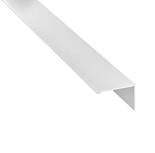 Gedotec Griffleiste Edelstahl-Optik Möbelgriff für Sideboard & Schränke - H8101 | Länge 2500 mm | Küchen-Griff mit Tiefe: 43 mm | Schrankgriff Aluminium | 1 Stück - Design Profilleiste Alu 2,5 Meter