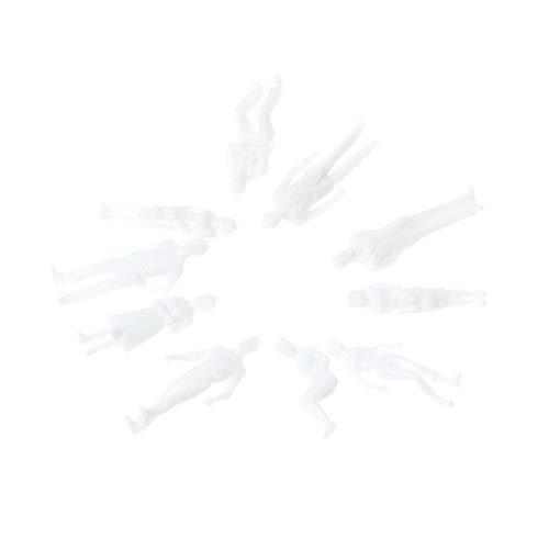 S-TROUBLE 10Pcs Scala in Miniatura 1:50 Figure Bianche in Miniatura Modello Umano Modello architettonico
