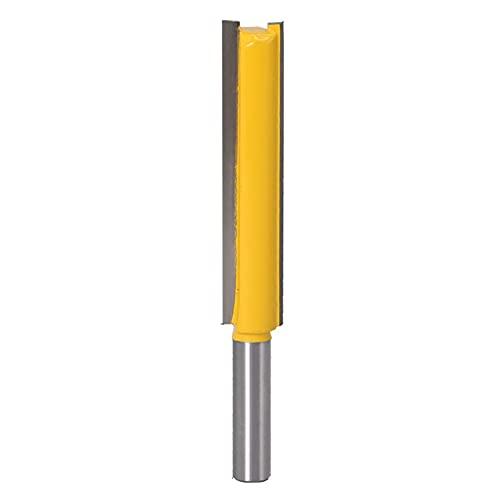 LUANAYUN-ENDMILL - Juego de brocas de fresado de madera (1/4, 8 mm, 50/76 mm, longitud del filo de corte 8 x 9,52 x 50 mm)