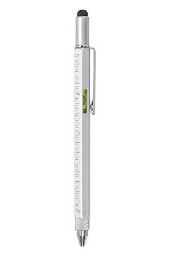 Mountain Warehouse Stylo Multi-Outils -Léger, Compact -Comprend Un Stylo règle Multi-Usage de 10 cm, Un Stylo Mini-Tournevis -pour Les Voyages, Le Camping et Les garages Argent Taille Unique