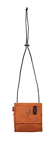 MILESTO ミレスト パスポートケース 首下げ パスポートカバー スマホ収納可 ストラップ長 軽量 撥水 Utility 14.5 cm MLS617 (ダークオレンジ)