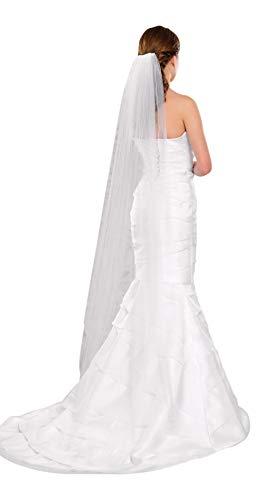 Langer Schleier zum Brautkleid, 170 cm