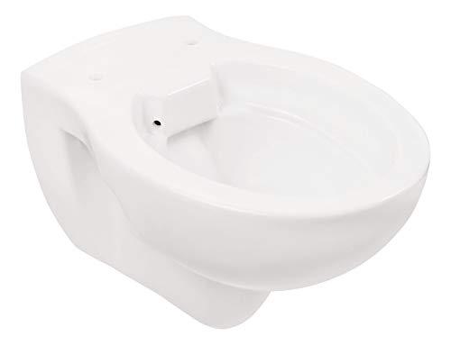 Calmwaters® - Universal - Hänge-WC ohne Spülrand als Tiefspüler mit waagerechtem Abgang zur Wandmontage - 08AB3717