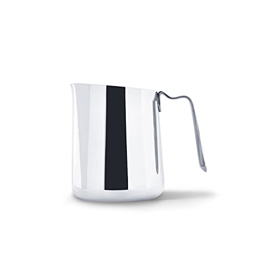 Fellow Eddy Steaming Pitcher, Milk Frothing and Precision Latte Art, Measurement Aids, Fluted Spout, Sharp Front Crease, 304 18/8 Stainless Steel - Polished 12oz
