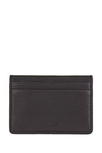 BOSS Majestic S Money c L - Tarjetero de piel con pinza para billetes, color negro, talla única