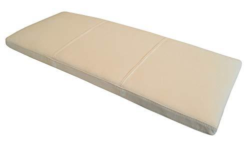 Quattro Meble Creme Echtleder Bankauflage Sitzkissen Lederkissen Sitzpolster Bank Auflage doppelt genähtes Echt Leder Kissen Sitzauflage (40 x 100 cm)