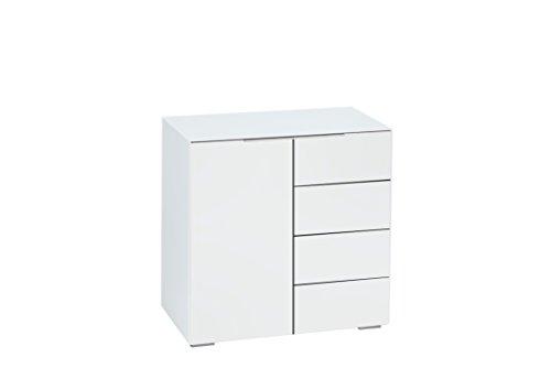 MAJA Möbel Best 7210 Kommode Weißglas matt, Abmessungen (BxHxT): 80,20 x 79,40 x 46,20 cm, Glas, 20 x 46,20 x 79,40 cm