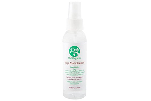 Melorganic Organic Yoga/Tappetino per Esercizi Spray detergente–100ml. Detergente Naturale, Antibatterico, e Anti-batteri–by