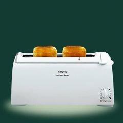 Krups F 168 Sensor L einfarbig/weiß Toaster