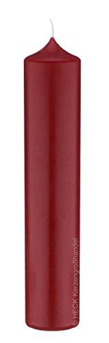 12 Altar Kerzen Rot 10% BW Anteil (Bienenwachs Kerzen) 20 x 5 cm im XXL Format deutsche Marken Kerzen Kopschitz Kerzen in RAL Kerzenqualität