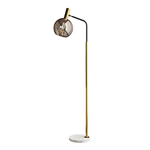 JSJJATQ Lámpara de Mesa Simple LED Luz de Estar de pie Sala de Estar Dormitorio Estudio Lámpara de Vidrio Negro Oro Blanco Metal de mármol de Metal Luces Minimalism