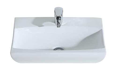 Eridanus, Serie Nevada, Keramik Aufsatz Waschbecken, Rechteckig, Design Waschtisch, Waschplatz (WB-17)