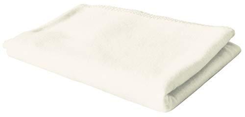 KiGATEX Polar-Fleecedecke in vielen Farben 130x160 cm pflegeleicht für Innen oder Außen (Ecru)