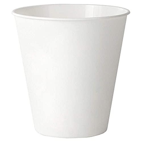 Hesily Papelera Redonda Papelera, contenedor de Basura de plástico para baño, tocador, Cocina, Oficina en casa de 11 Pulgadas de Alto, Blanco irrompible