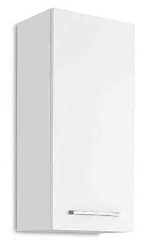 AVANTI TRENDSTORE - Blanco - Arredamento da Bagno Moderno, in Laminato di Colore Bianco (Armadietto da Muro)