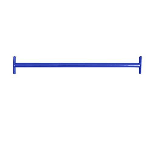 ESTEXO Reckstange Turnstange Klimmzugstange Kletterstange Turnreck Metallreck Gymnastik Gymnastikstange RAL5002 (Blau) 90 cm